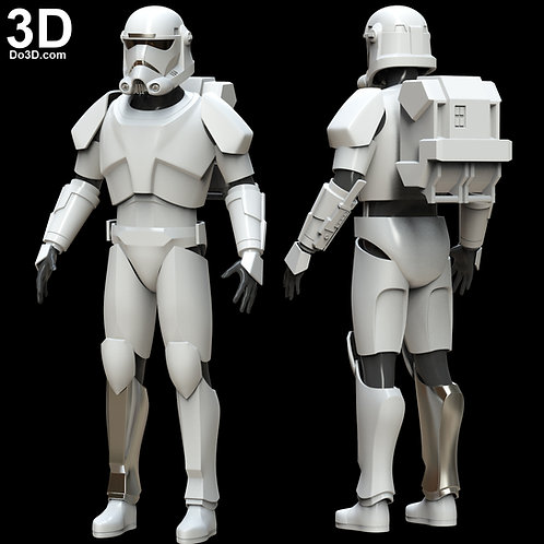 Clone Force 99 Trooper Star Wars Bad Batch Hunter Armor | 3D Project #4895