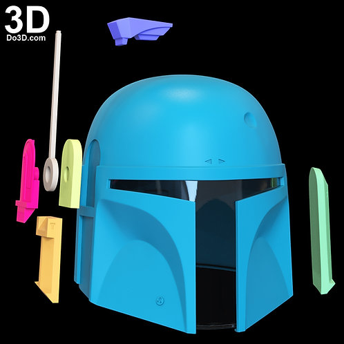 Boba Fett Star Wars Helmet (From Mandalorian) | 3D Printable Model STL File #BF1