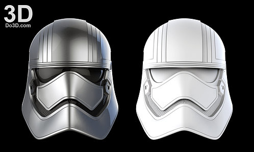 Captain Phasma Helmet Star Wars | 3D Printable Model Project #208