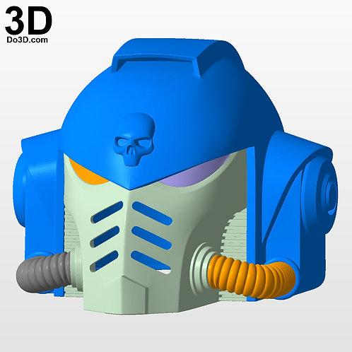 Warhammer 40K 40000 Primaris Space Marines Helmet | 3D Printable Model #3336