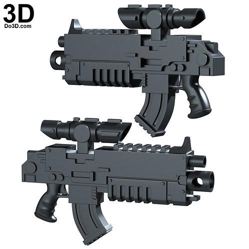 3D Print File: Space Marines Warhammer 40,000 40k Bolter   War Hammer Bolt Rifle