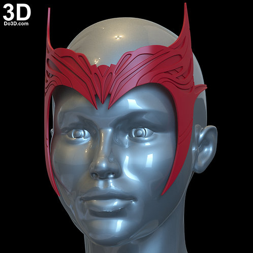 Crown Headpiece WandaVision Wanda Scarlet Witch Tiara 3D Printable Model STL #W0