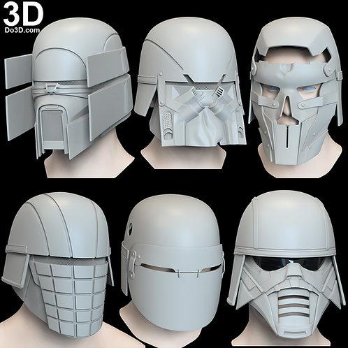 Knights of Ren Helmet Vicrul Ushar Trudgen Kuruk Cardo AP'LEK 3D Project #6539