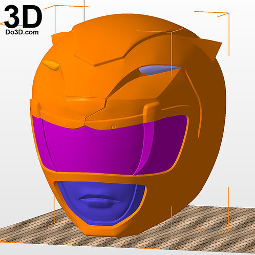 Yellow Ranger Classic Helmet Mighty Morphin Power Rangers MMPR 3D Model #2736