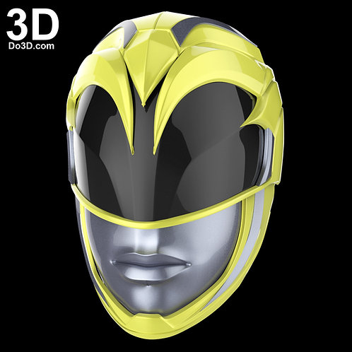 The Yellow Ranger Helmet from New Power Rangers 2017 | 3D Model Project #1701