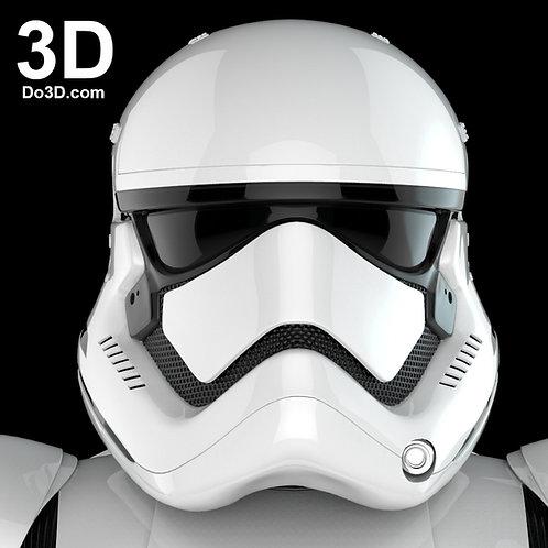 Stormtrooper TFA First Order Helmet Star Wars 3D Model Project #N20