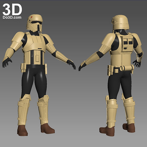 Shoretrooper Scarif Stormtrooper Armor Star Wars | 3D Model Project #1059