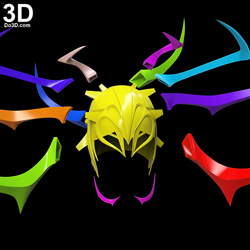 Hela Headdress Helmet from Thor Ragnarok | 3D Model Project #3615
