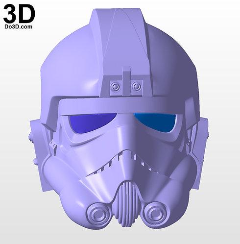 Tie Fighter Pilot Classic Helmet from Star Wars | 3D Model Project #5230