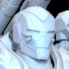 3D Printable Model: Iron Patriot Endgame Helmet Print File Format STL #n36