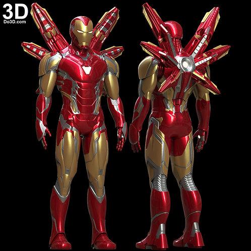 IRON MAN MARK LXXXV Armor + Wing MK 85 Endgame | 3D Model Project #5775