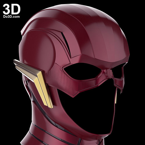 Flash Justice League Helmet Ezra Miller Cowl | 3D Printable Model #1264