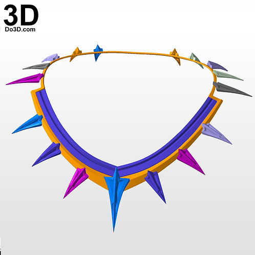 Black Panther Civil War & Tchaka T'Chaka Necklace | 3D Model Project #4365