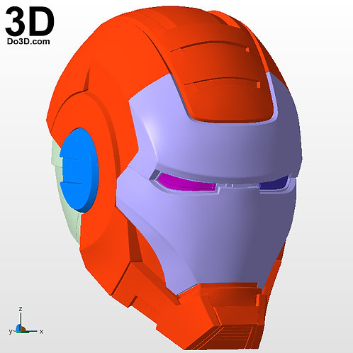 War Machine 001 Helmet Iron Man Mark I MK 1 | 3D Printable Model #4651