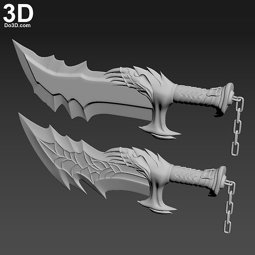God of War Kratos Blade Chaos Sword Knife | 3D Model Project #5936