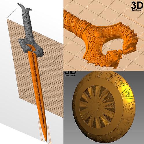 Wonder Woman God Killer Sword and Shield | 3D Model Project #N28