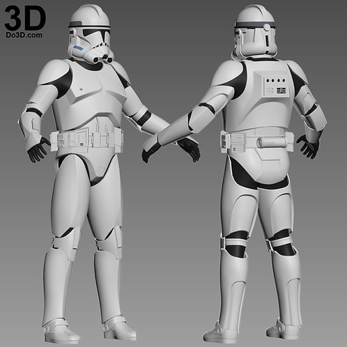 Clone Trooper Phase 2 Star Wars Full Body Armor Suit | 3D Model Project #1584