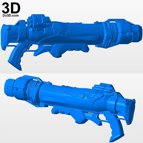 Pharah Jackal Rocket Launcher Blaster OverWatch | 3D Model Project #3707