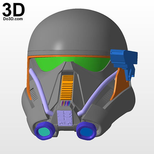 3D Printable Model: Death Trooper Helmet V2 Star Wars | STL File DT137