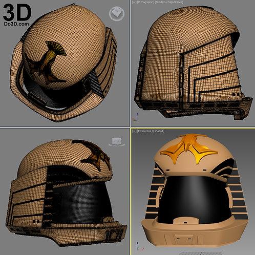 Colonial Viper Battlestar Balactica BSG Helmet   3D Printable Model #1737