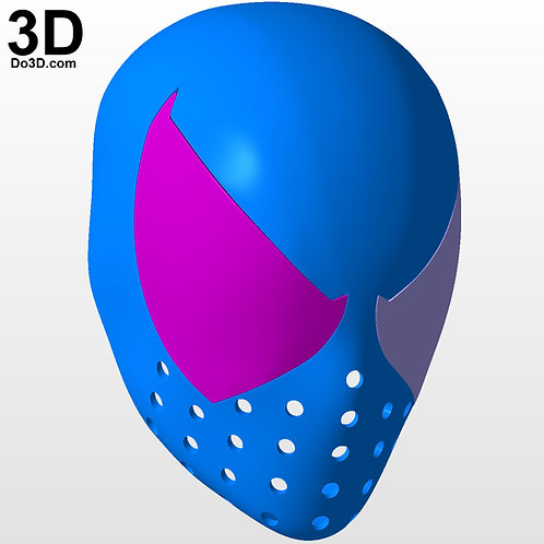 Spider-man Face Shell Helmet with Large Eyes / Big Lens | 3D Model Project #5518