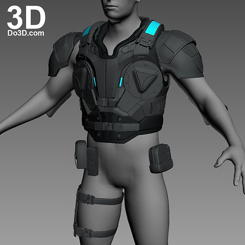 JD Fenix Gears of War 4 Full Body Armor Suit Set | 3D Model Project #1075
