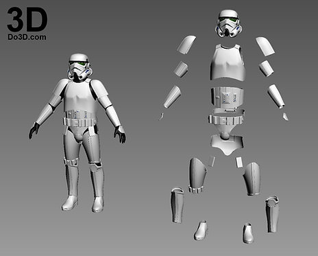 ANH Imperial Classic Stormtrooper Star Wars Armor | 3D Model Project #903