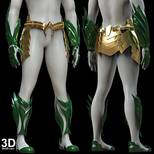 Aquaman 2018 set with Trident | 3D Model Project #5164
