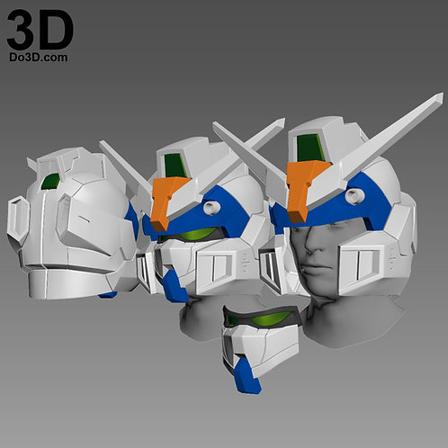 Duel Gundam Assault Shroud Helmet | 3D Model Project #1455