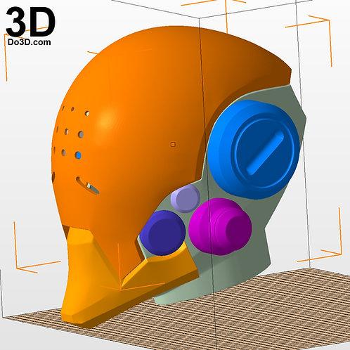 Zenyatta OverWatch Helmet Mask | 3D Model Project #2156