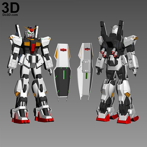 RX-178 Gundam Mk-II Full Body Armor | 3D Model Project #3428