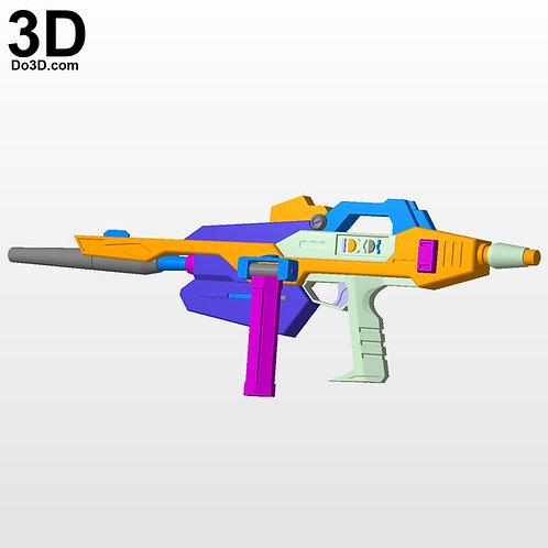 Gundam RX 178 MK II Gun, Blaster, High-energy Beam Rifle, 3D Model Project #3537