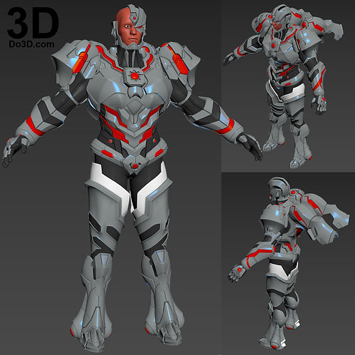Cyborg Justice League Variant Armor KAI Arts | 3D Model Project #3086