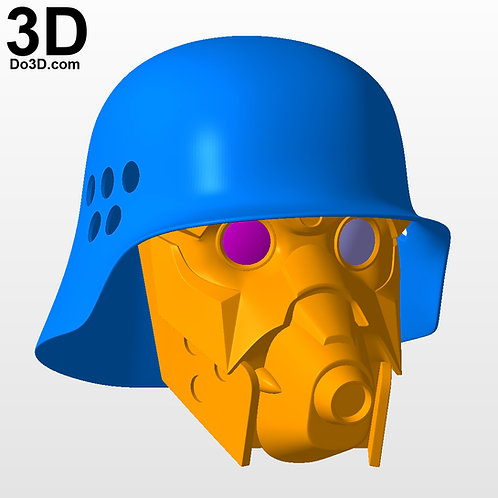 Jin Roh The Wolf Brigade Helmet | 3D Model Project #3523