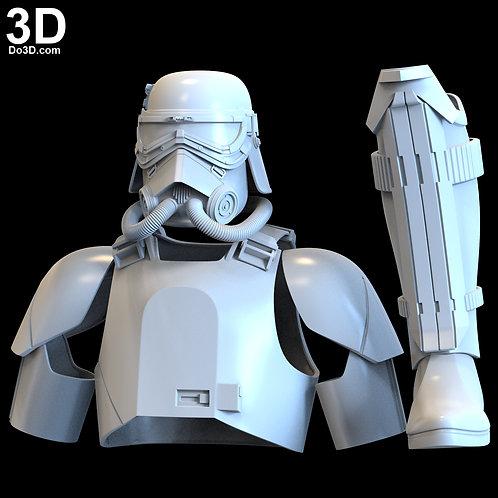 MudTrooper Swamp Trooper Helmet and Armor | 3D Model Project #4921