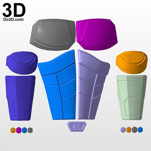 Red Hood Injustice 2 Upper Body Armor Set | 3D Model Project #2921