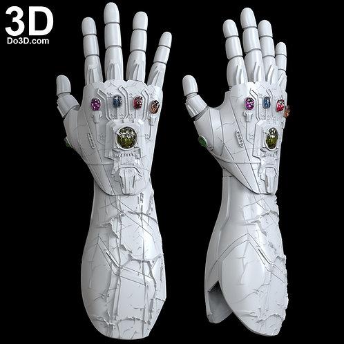 I am Iron Man Nano Infinity Gauntlet Damaged | 3D Printable Model #5880
