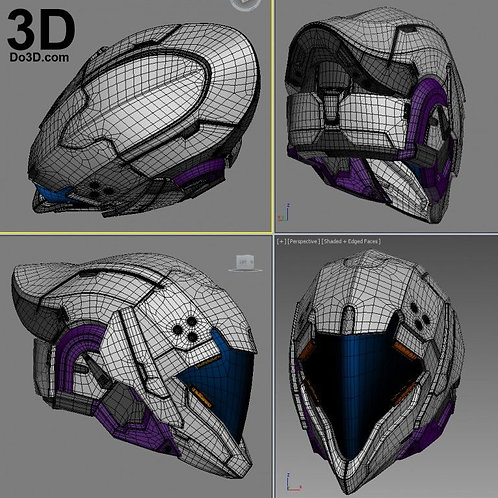 Facade of the Hezen Lords Helmet Destiny Warlock 3D Model Project #1861