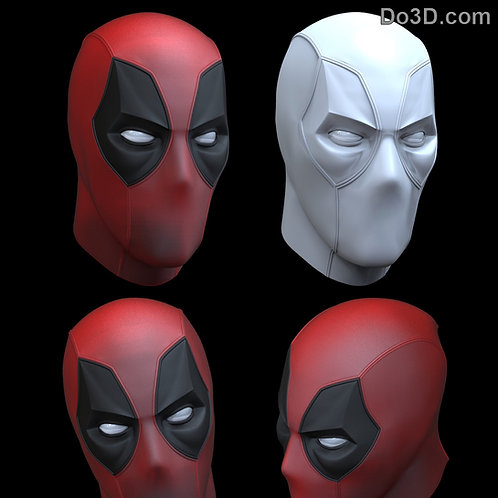 Deadpool Mask Faceshell +  6 interchangeable Eyes | 3D Printable Model #536