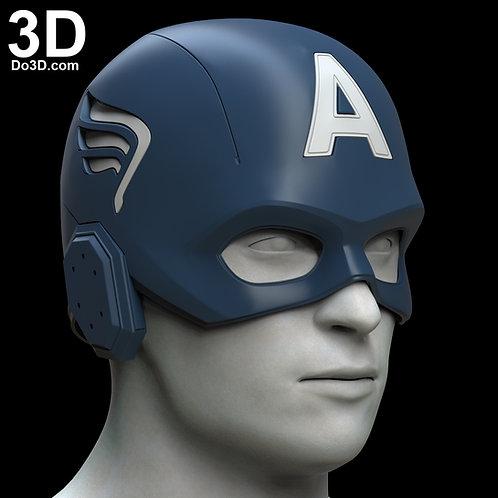 Captain America 2012 Avengers 1 Helmet | 3D Model Project #6082