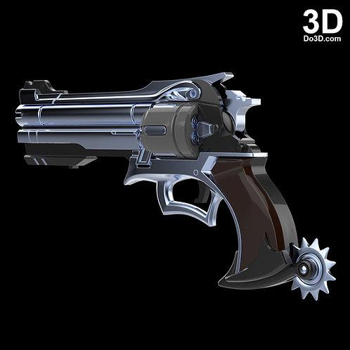 McCree Peacekeeper Revolver Pistol Gun | 3D Printable Model Project #810