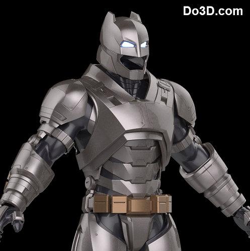 Armored Batsuit Batman v Superman BVS DOJ Helmet + Armor, 3D Printable Model #44
