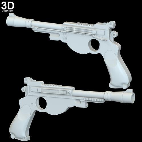 Mandalorian Blaster Pistol Gun Star Wars | 3D Model Project #6288