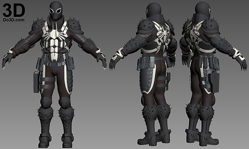 Agent Venom Armor Ultimate Spider-Man: Web Warriors, 3D Model Project #959