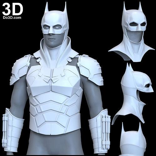 3D Printable Model: Batman 2021 Armor + Cowl | Print File Format STL #B41