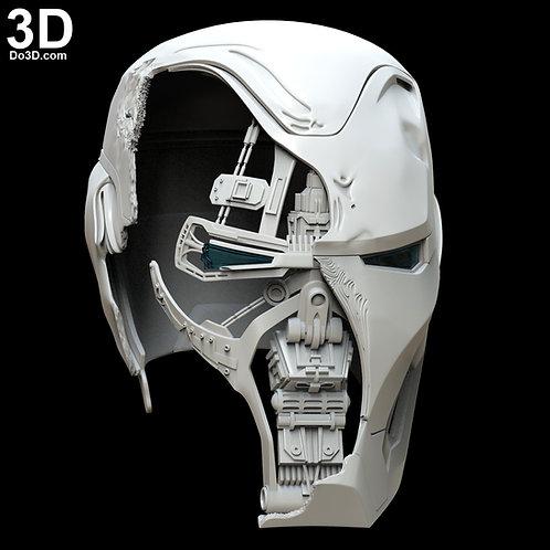 Iron Man Mark L MK 50 Damaged Smashed Helmet Endgame 3D Model Project #5385