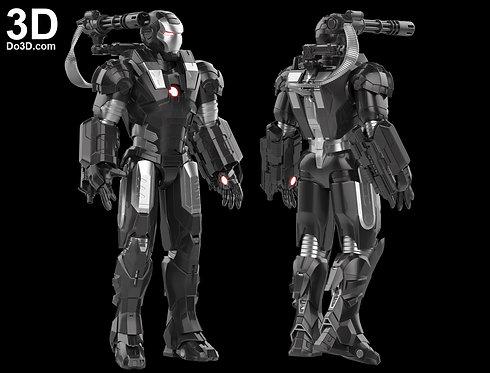 Iron Man Mark I Armor War Machine 001  MK 1 | 3D Model Project #795