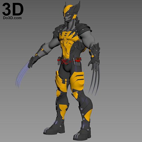 X-Men Variant Kai Arts Logan Wolverine Full Body Armor, 3D Model Project #2115