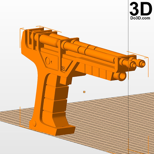Doctor Who Time Lord Pistol Gun | 3D Model Project #2600