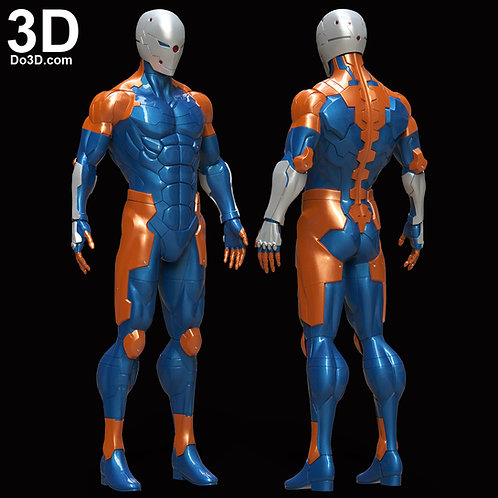 Metal Gear Solid Cyborg Ninja Gray Fox Armor | 3D Printable Model STL #5168